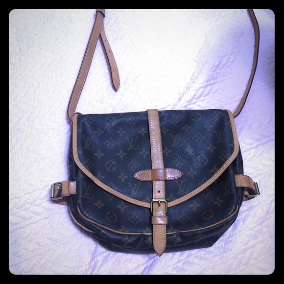 695a6ada58 Louis Vuitton Bags | Authentiv Louise Vuitton Saumur Crossbody Bag ...